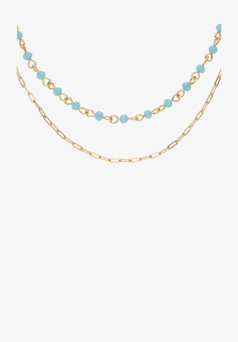 Six - MIT GLASSTEINEN IN GLANZ-OPTIK - Necklace - blau