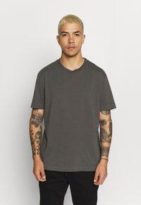 AllSaints - MUSICA - Basic T-shirt - alp grey - 0
