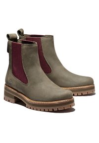 Timberland - COURMAYEUR VALLEY CHELSEA - Boots - olive nubuck w burg - 1