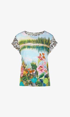 Print T-shirt - pea