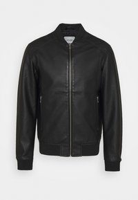 Jack & Jones - JJLOGAN JACKET - Faux leather jacket - black - 0