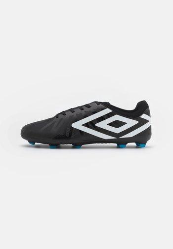 VELOCITA VI CLUB FG - Moulded stud football boots - black/white/cyan blue