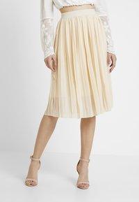 NA-KD - MIDI PLEATED SKIRT - A-line skirt - beige - 0
