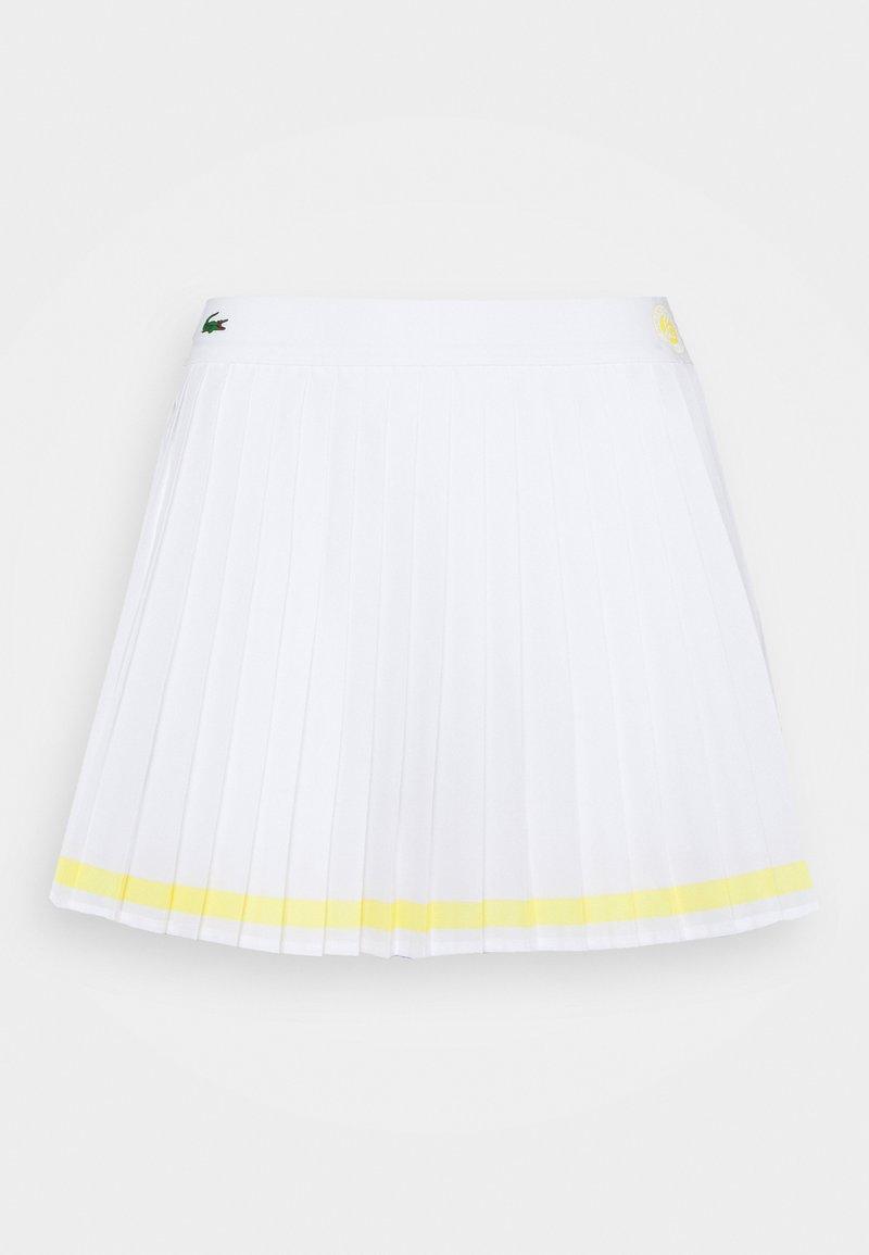 Lacoste Sport - TENNIS SKIRT - Sports skirt - white/sunny white
