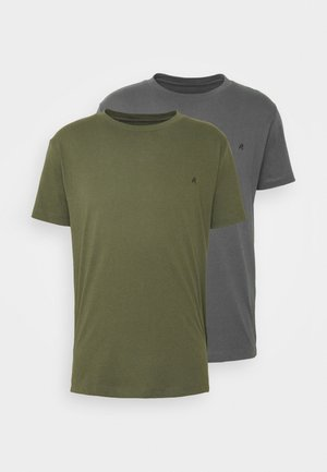 2 PACK - T-shirt basic - olive/grey