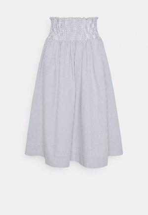 VIVIAN MIDI SKIRT - A-line skirt - blue/white