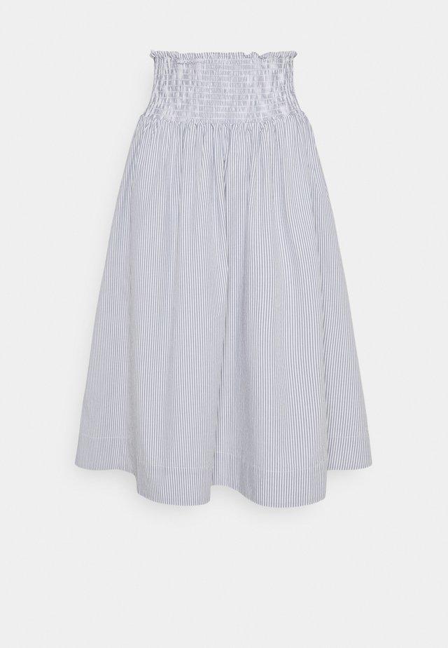 VIVIAN MIDI SKIRT - Áčková sukně - blue/white
