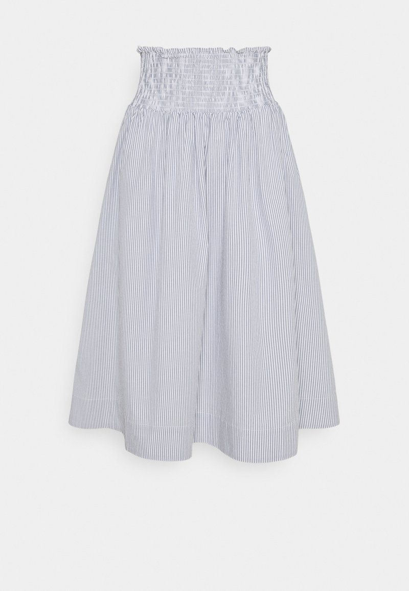 esmé studios - VIVIAN MIDI SKIRT - A-line skirt - blue/white