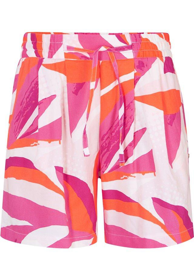 Shorts - weiß/pink/orange