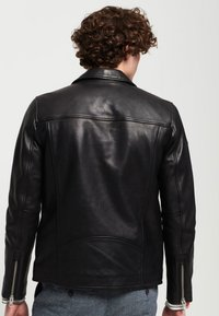 Superdry - HERO - Leather jacket - black - 2