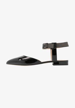 CHAIN STREET - Ankle strap ballet pumps - black