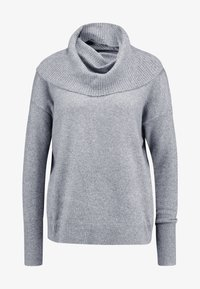 Vero Moda - VMBRILLIANT  COWLNECK  - Strikkegenser - medium grey melange - 3