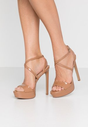 STUNNING - High heeled sandals - camel