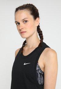 Nike Performance - ELITE TANK - Sports shirt - black/white - 5