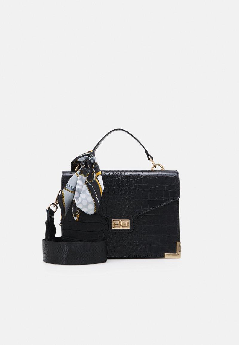 Pieces - PCABBELIN CROSS BODY - Handbag - black/gold-coloured