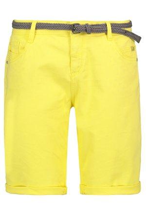 Denim shorts - yellow