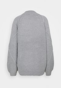 Dorothy Perkins Tall - CABLE HIGH NECK JUMPER - Jumper - grey marl - 1