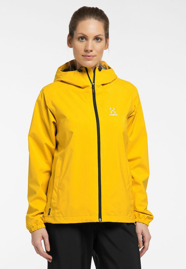 BUTEO JACKET - Hardshelljacka - pumpkin yellow