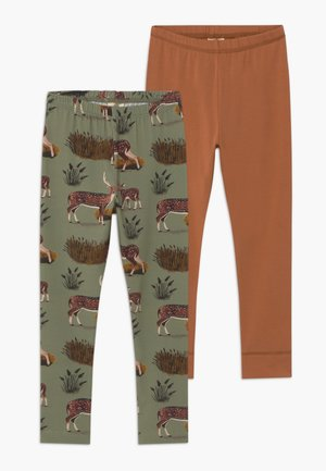 2 PACK - Leggings - Trousers - green