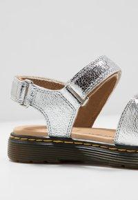 Dr. Martens - ROMI  - Sandals - silver metallic - 5