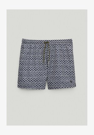 Swimming trunks - blue-black denim