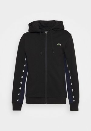 Zip-up hoodie - black/navy blue