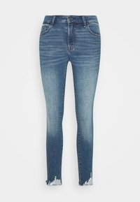 Abercrombie & Fitch - CLEARN MID RISE ANKLE - Jeans Skinny Fit - blue denim - 0