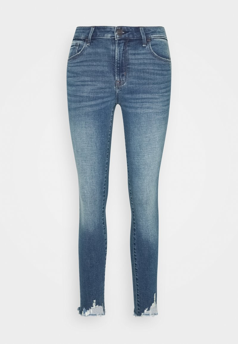Abercrombie & Fitch - CLEARN MID RISE ANKLE - Jeans Skinny Fit - blue denim