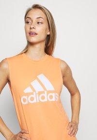 adidas Performance - MUST HAVES SPORT REGULAR FIT TANK TOP - Camiseta de deporte - ambtin/white - 3