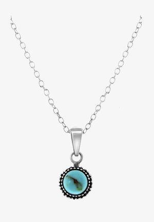 Ketting - zilverkleurig/turquoise