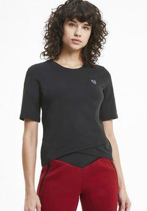 SCUDERIA FERRARI SHIELD  - Print T-shirt - black