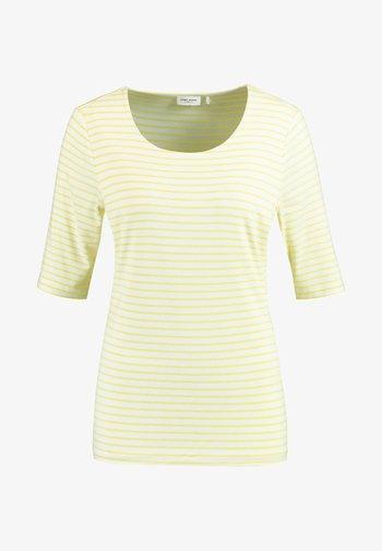 1/2 ARM GERINGELTES - Print T-shirt - ecru/weiss/gelb ringel