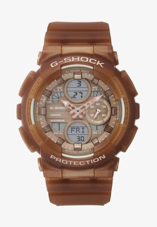 Digital watch - hellbraun