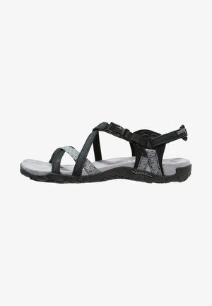 TERRAN LATTICE II - Walking sandals - black