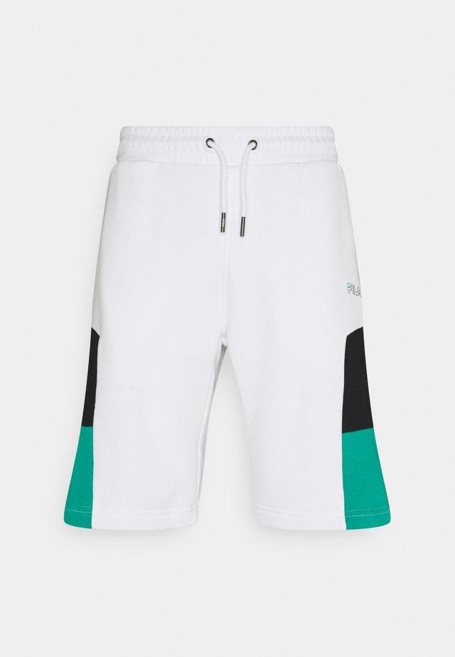 JUDA BLOCKED SHORTS - Pantaloncini sportivi - bright white/black alhambra