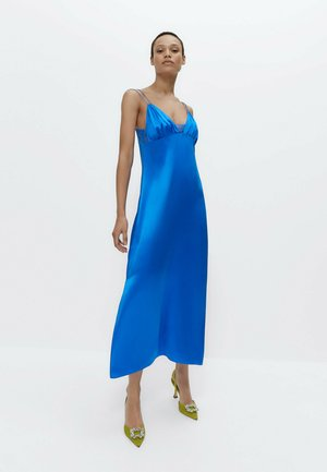 Cocktail dress / Party dress - neon blue