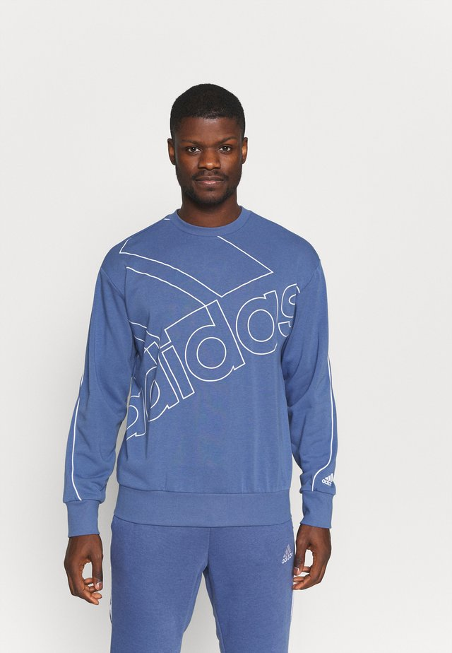Sweatshirt - crew blue/white