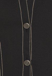 Proenza Schouler White Label - RUMPLED BUTTON FRONT DRESS - Košilové šaty - black - 2