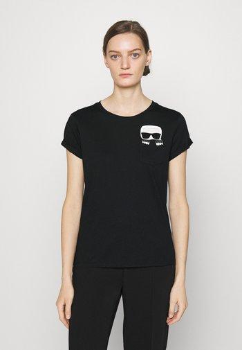 IKONIK KARL POCKET TEE - T-Shirt print - black