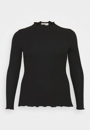 CARALLY HIGH NECK - Long sleeved top - black