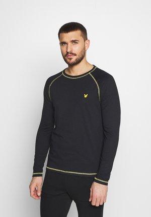 CONTRAST SEAMS BASELAYER - Long sleeved top - true black