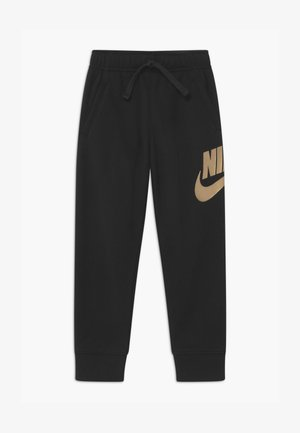SPORTSWEAR CLUB  - Tracksuit bottoms - black/metallic gold