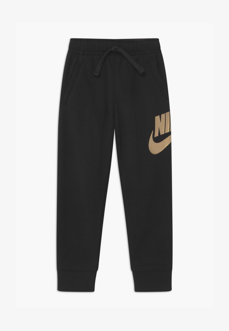 Nike Sportswear - CLUB  - Tracksuit bottoms - black/metallic gold
