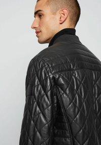 BOSS - JECEY - Leather jacket - black - 2