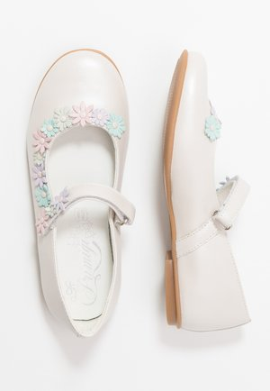Ankle strap ballet pumps - avorio