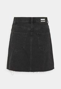 Dr.Denim - ECHO SKIRT - Mini skirt - charcoal black - 6
