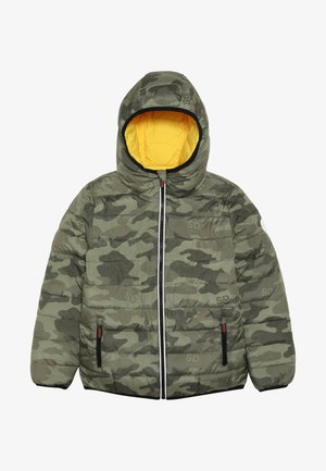 REVERSIBLE FUJI - Winterjas - olive/yellow