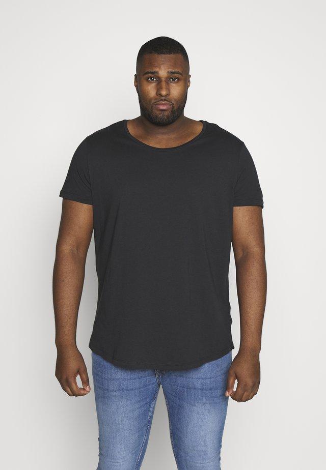 SHAPED TEE - T-shirt basic - washed black