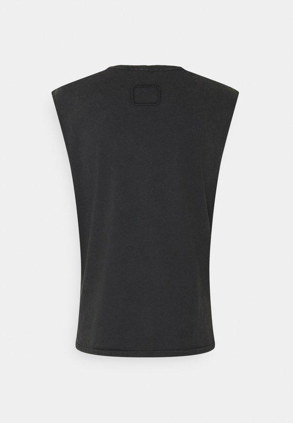 Tigha RAMIS - T-shirt basic - vintage black/czarny Odzież Męska SUWX