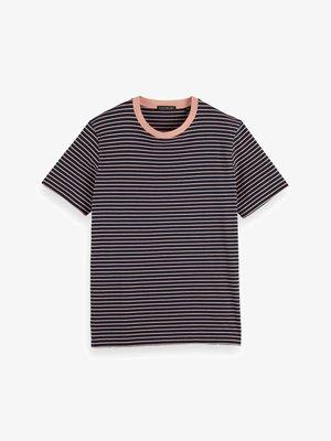 CLASSIC CREWNECK STRIPE TEE - Print T-shirt - black